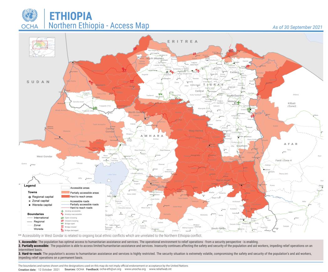Humanitarian access in northern Ethiopia