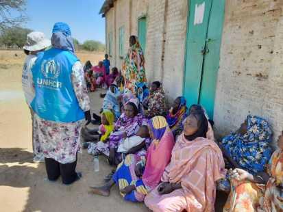 Needs assessment team in Muli village, West Darfur Feb 2021 OCHA
