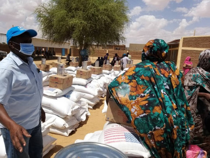 Humanitarian assistance distribution in El Fasher, North Darfur