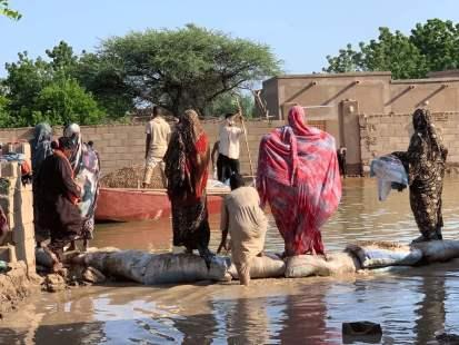 أضرار فيضانات قرية ود مختار بالخرطوم (مكتب تنسيق الشؤون الإنسانية، 2020)