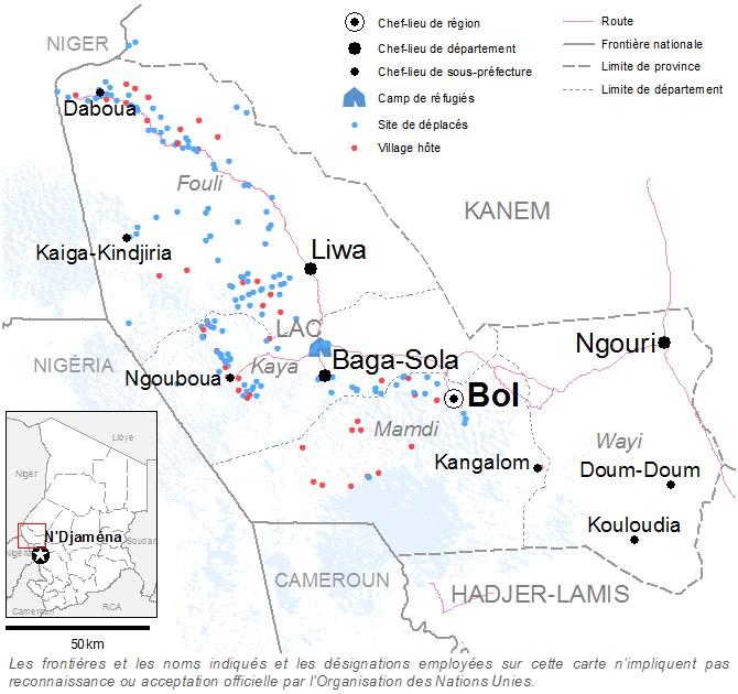 Carte de la province du Lac