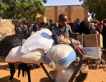 Food distribution in Ag Geneina, April 2021 - WFP