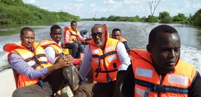 The rescue team returning from Boore island. Photo Warsame/OCHA