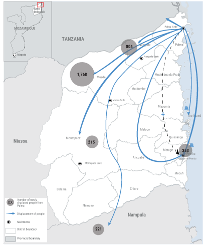 MOZAMBIQUE  - Palma Attack Displacement Map (30 Mar 2021)