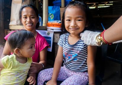 Measles immunization campaign