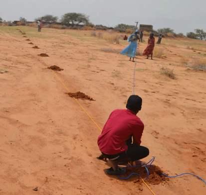 تجهيز الأرض لزراعة الأشجار (مصدر الصورة: برنامج الأمم المتحدة للبيئة)