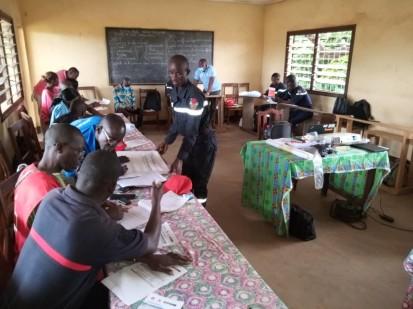 Des volontaires de la Croix-Rouge Centrafricaine préparés à agir en cas de catastrophe