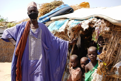 Elderly IDP in Custom House camp, Maiduguri