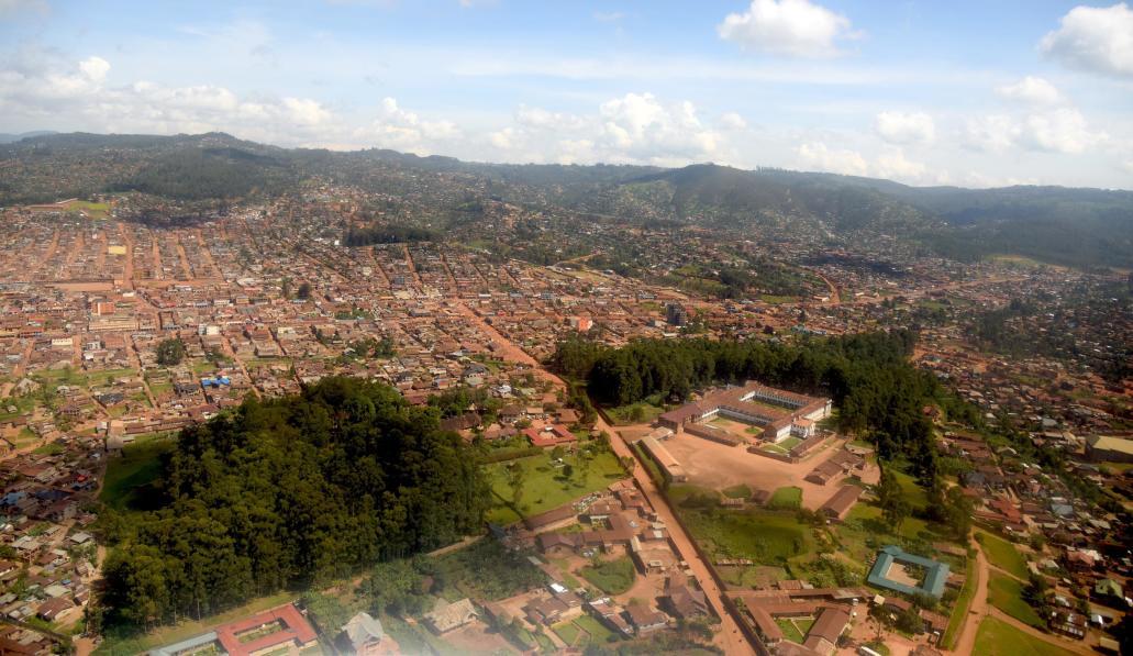Vue aérienne de Butembo