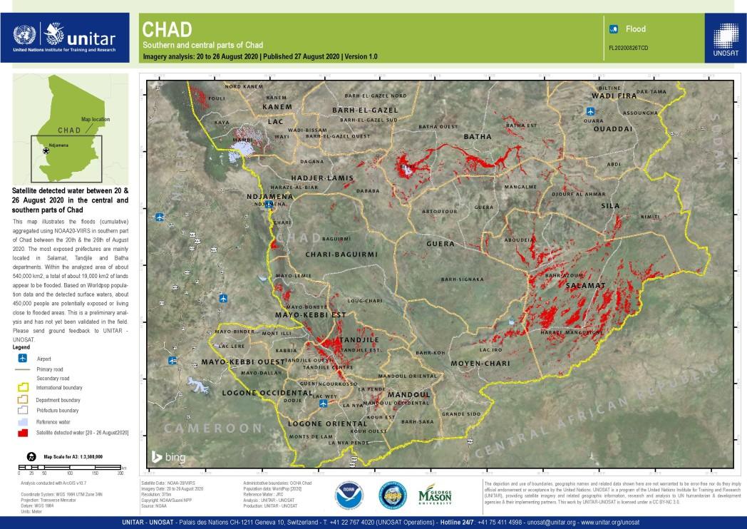 UNOSAT A3 Natural Landscape FL20200826 20200822 20200826 Chad
