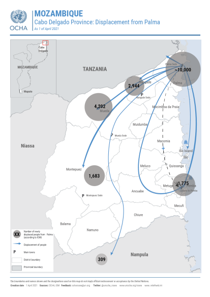 Mozambique - Palma Attack Displacement Map