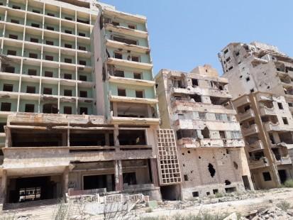 Damaged housing in the Al Sabri neighborhood, Benghazi (UNHCR)