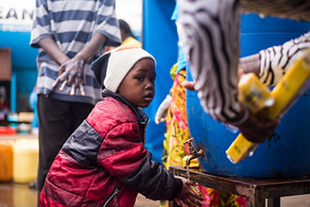 Handwashing facility in Kibera, Kenya