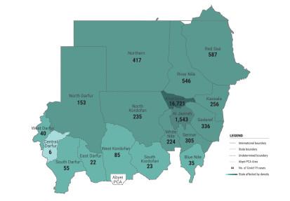 Covid19 no of cases 12Dec20 heat map
