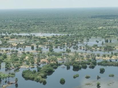 Inondations à Ngarba à la frontière avec le Tchad dans la Préfecture de la Bamingui-Bangoran. ©REACH/Ugo Semat. Ngarba, Préfecture de la Bamingui-Bangoran, RCA, 2020.