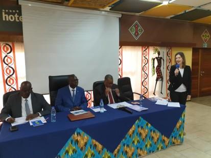 Photo: Jutta Hinkkanen, Head of OCHA Burundi, welcomes participants to the 2020 Humanitarian Response Planning workshop. OCHA, 22 Oct 2019/ Lucien Simba
