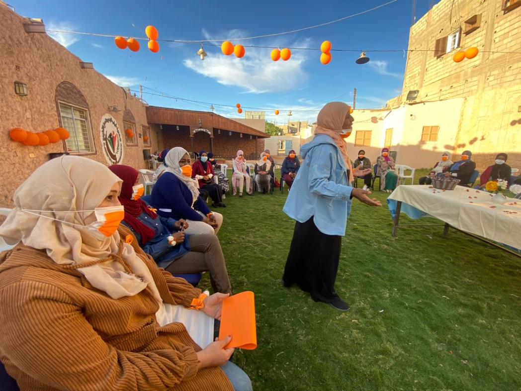Awareness session on GBV and women's empowerment at a women's centre, Sebha (UNFPA)