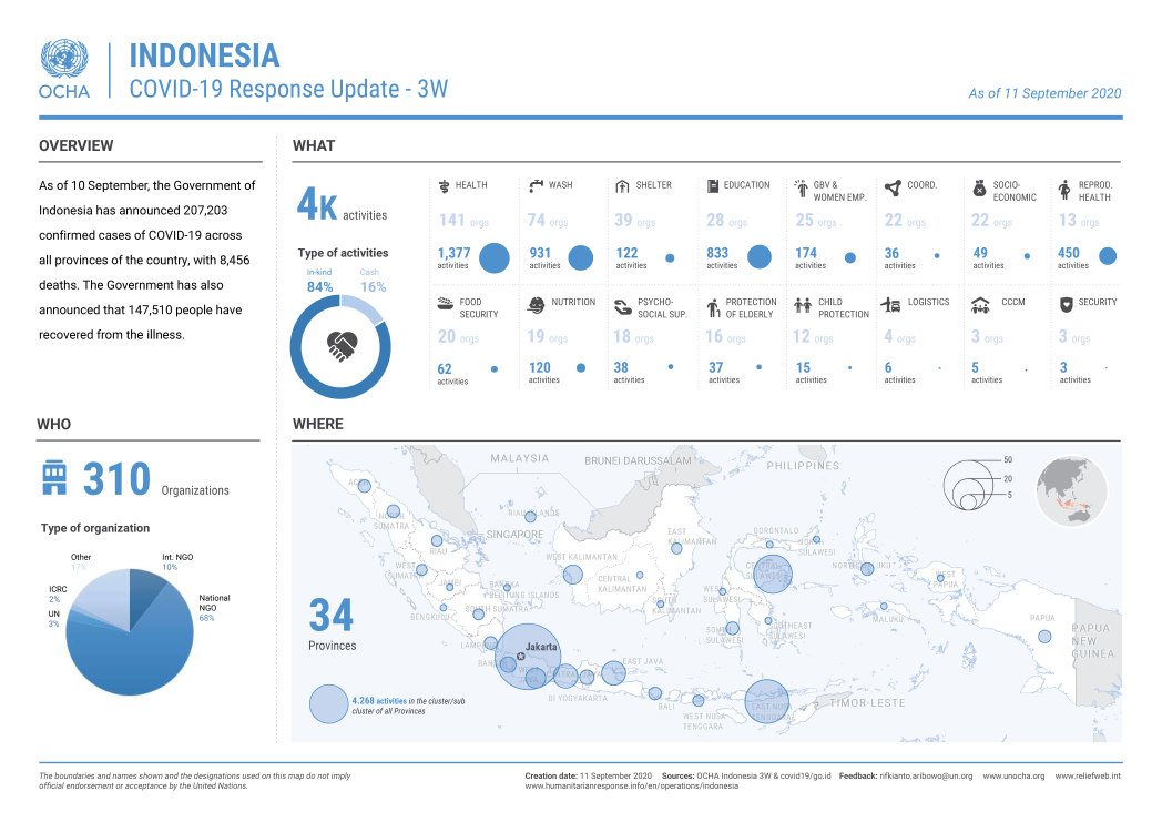 Indonesia COVID-19 Response Update - 3W