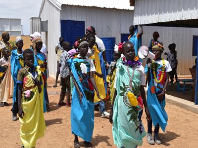 مسابقة الأغنية في معسكر الورل للاجئين بولاية النيل الأبيض (مفوضية الأمم المتحدة لشئون اللاجئين، 2020)
