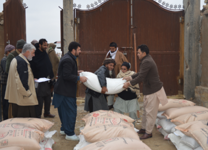 Distribution to support farmers in the northern province of Balkh