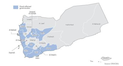 Flood-affected governorates