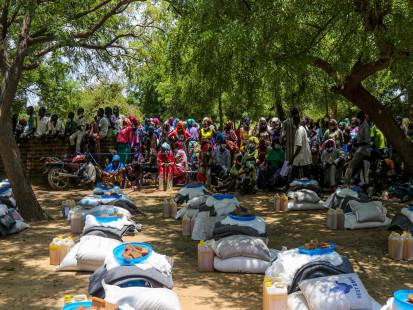 Distribution batches in Kabe, N'Djamena