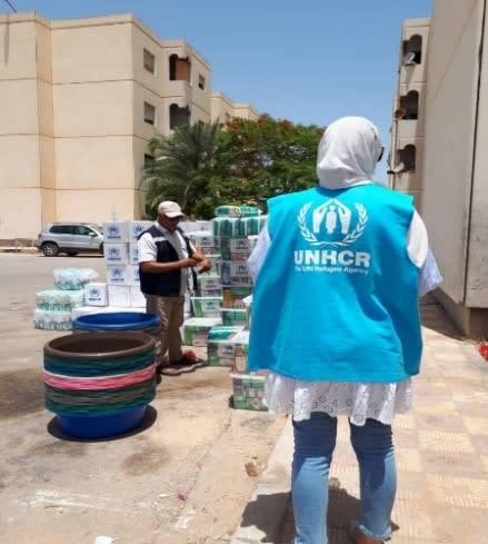 توزيع المواد غير الغذائية (المفوضية السامية للأمم المتحدة لشؤون اللاجئين)