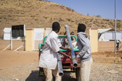 Providing employment for refugees and local community members, and improving safety and security in eastern Sudan, UNDPldin Abdalla Mohame