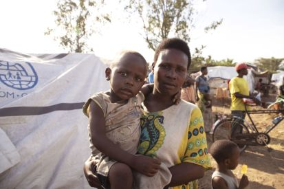 Violette Nshimirimana, widow and mother of four children, whose house was destroyed in the floods.  © IOM, Triffin Ntore, May 2020