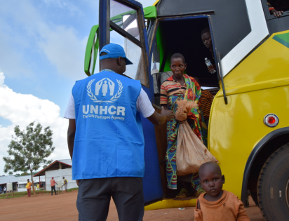 Arrival of Burundian returnees at the Gitara transit centre in Makamba province, in February 2020. Photo: ©UNHCR 2020/Bernard Ntwari