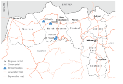 Refugee camps in Tigray