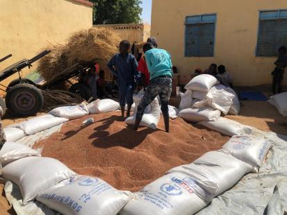 WFP food distribution in Ag Geneina, West Darfur Feb 2021, Regina Bakhteeva/WFP