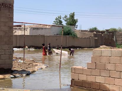 Floods Al-Assal Jebel-Aulya-locality Khartoum-State 2Sept20