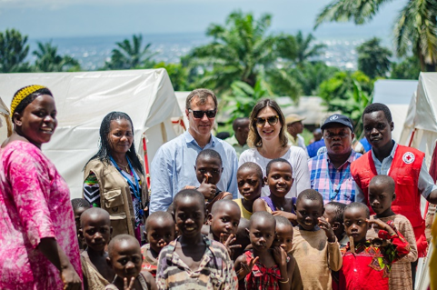 David Carden, OCHA Deputy Director for West & Central Africa, ends a successful mission to Burundi on 19 February by meeting people affected by recent natural disasters in the relocation site of Winterekwa in Bujumbura province. © OCHA 2020/ Lauriane Wolfe