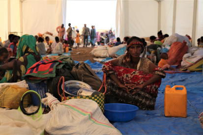 Ethiopian refugees arrive in Hamdayet,Kassala November 2020