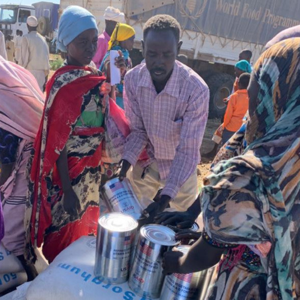 Food distribution in Aja and Boulay, North/Central Jebel Marra locality (IA Mission, February 2020)