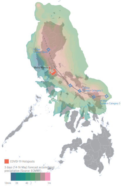 Typhoon Vongfong (Ambo) Map