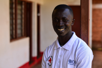 Fiacre Manariyo, 33, is the focal point of the Displacement Monitoring Matrix (DTM) at the Burundi Red Cross in Ngozi.  © OCHA/Lauriane Wolfe 2020