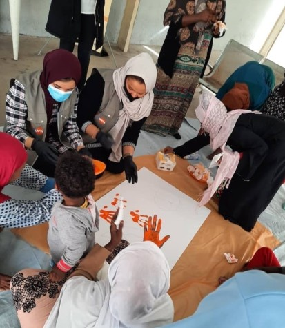 Awareness and PSS session in AlSeka detention centre, Tripoli (UNFPA)