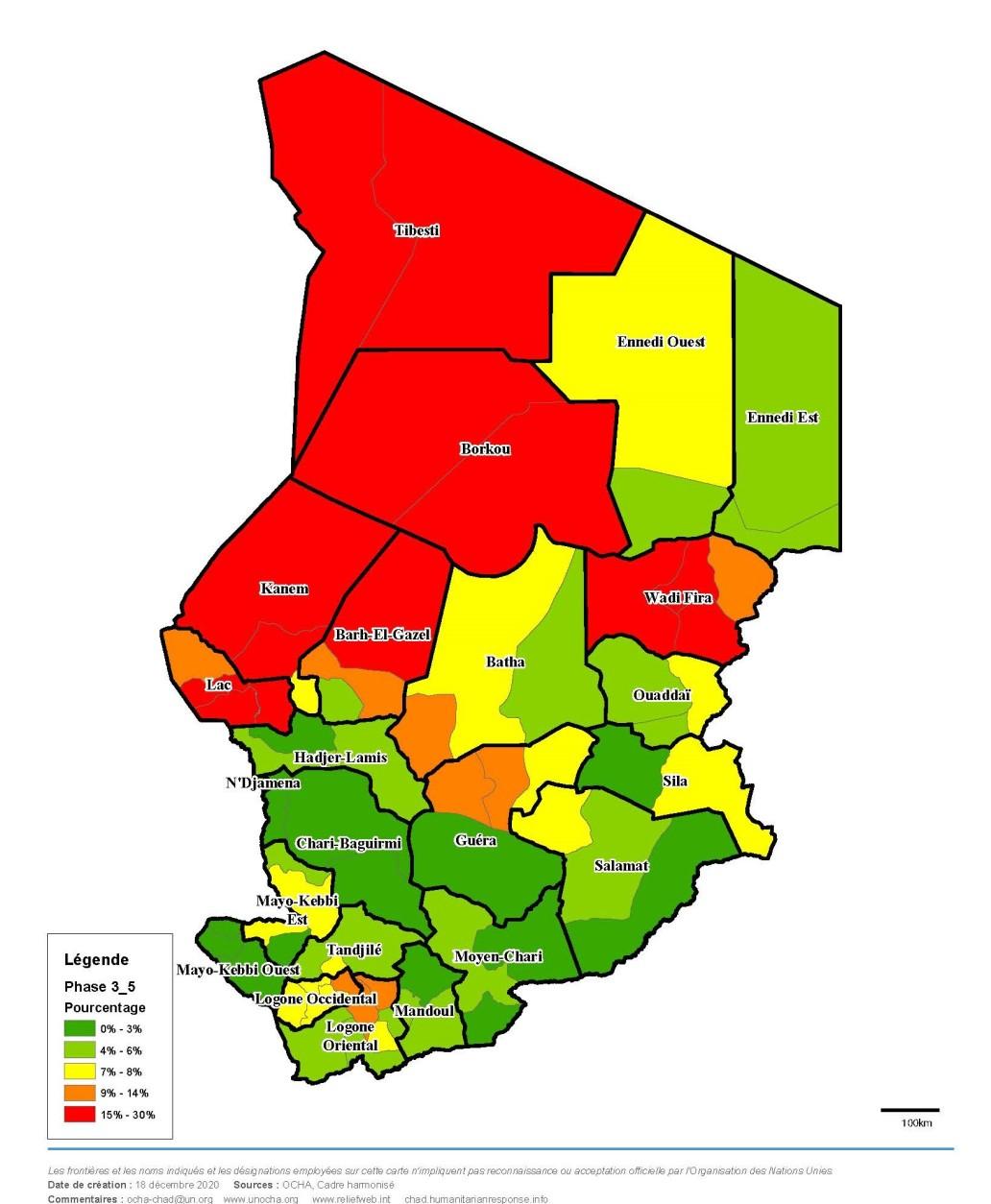 Densité des personnes en insécurité alimentaire par province