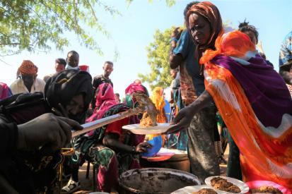 WFP food distribution for Ethiopian refugees Nov 2020