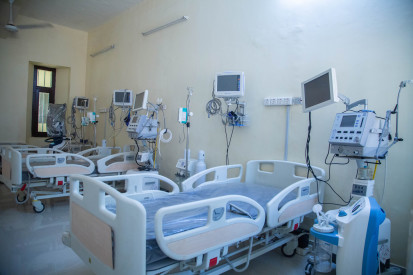 ICU ward in Khartoum Teaching Hospital set up for COVID-19 response by Save the Children (SC, April 2020)