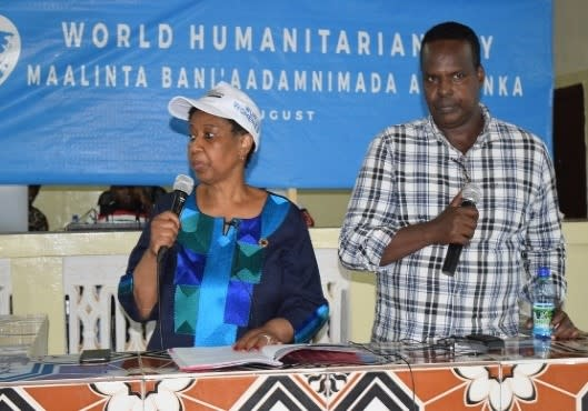 Celebration of World Humanitarian Day in Baidoa in 2019