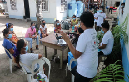 Health information session in one of the at-risk Barangays in Cebu City. Photo/FundLife