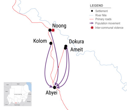 Displacement to Abyei town