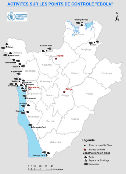 Ebola sites map