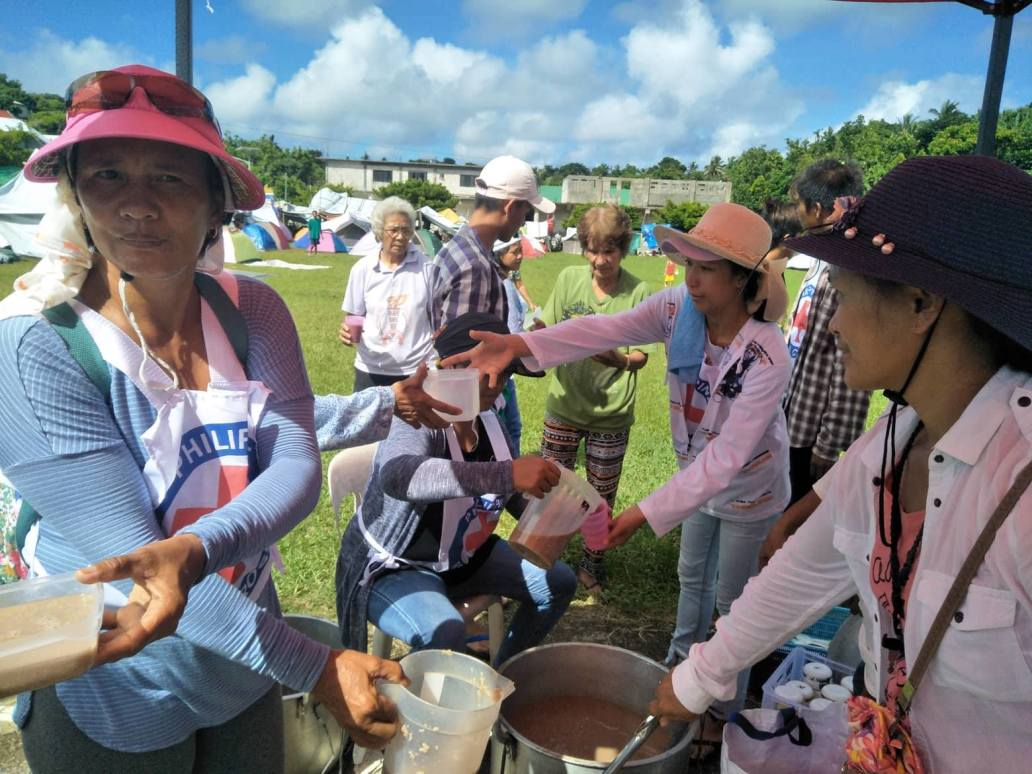Philippine Red Cross provides hot meals in Itbayat, Batanes