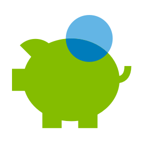Piggybank icon for Checking and Savings