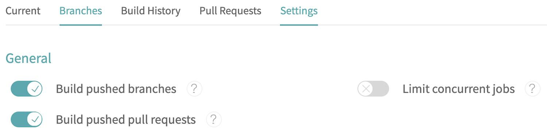 travis-build-settings