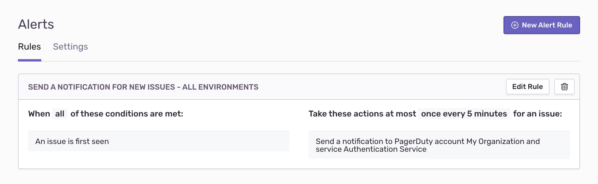 pd integration alerts